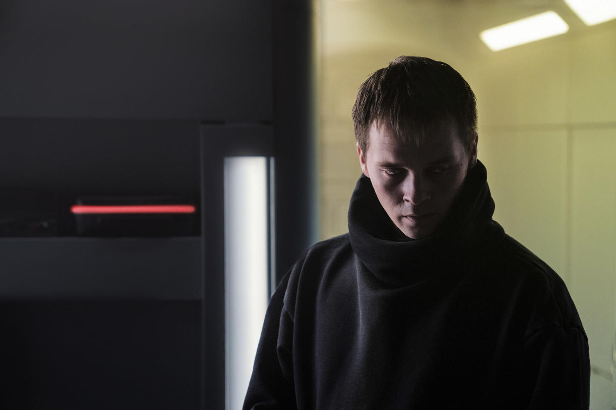 NIGHTFLYERS — 'Torches and Pitchforks' Episode 102 — Pictured: Sam Strike as Thale — (Photo by: Jonathan Hession/Syfy/NBCU Photo Bank via Getty Images)