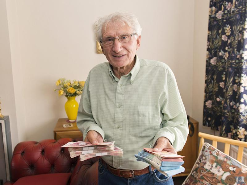 Widower Barry Stone had been told to send his £12,000 savings to London 'for testing': Photography by Vagner Vidal/INS
