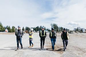 SitePartners team tours a client project site.