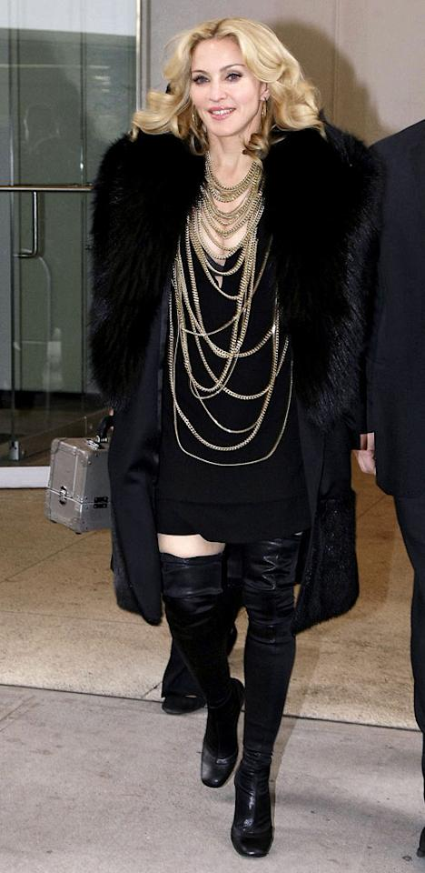 """The original """"Material Girl,"""" Madonna, will be 52 on August 16. Brian Ach/<a href=""""http://www.wireimage.com"""" target=""""new"""">WireImage.com</a> - May 1, 2008"""