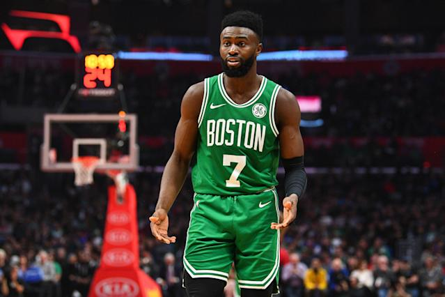 When Jaylen Brown reaches his potential — watch out. (Photo by Brian Rothmuller/Icon Sportswire via Getty Images)