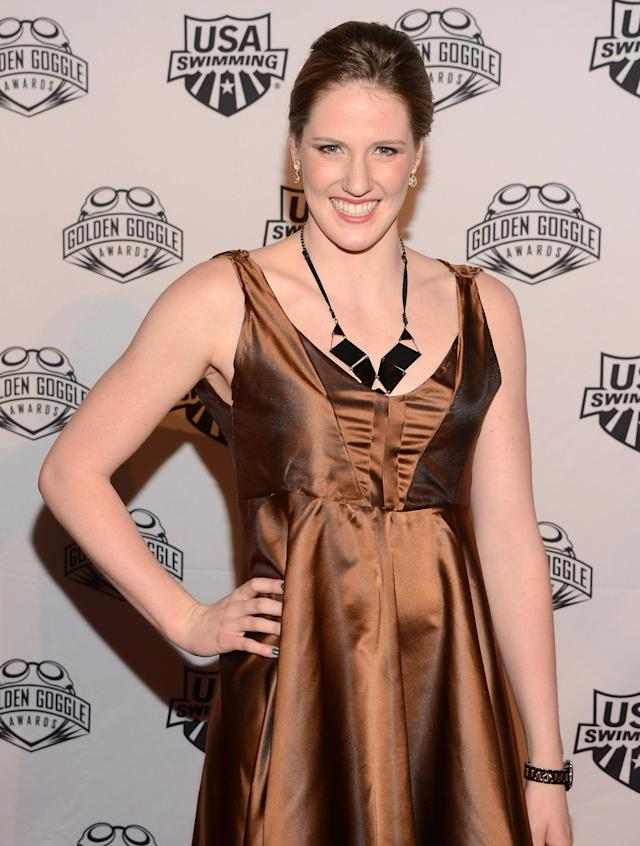 NEW YORK, NY - NOVEMBER 19: Olympic athlete Missy Franklin attends the 2012 Golden Goggle awards at the Marriott Marquis Times Square on November 19, 2012 in New York City. (Photo by Stephen Lovekin/Getty Images)