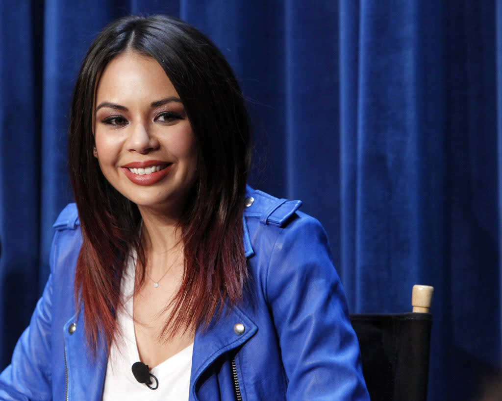 "Janel Parrish attends The Paley Center For Media Presents An Evening With ""Pretty Little Liars"" at The Paley Center for Media on June 10, 2013 in Beverly Hills, California."