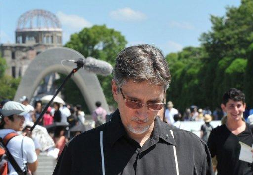 Clifton Truman Daniel, 55, toured the Hiroshima Peace Memorial Park on Saturday