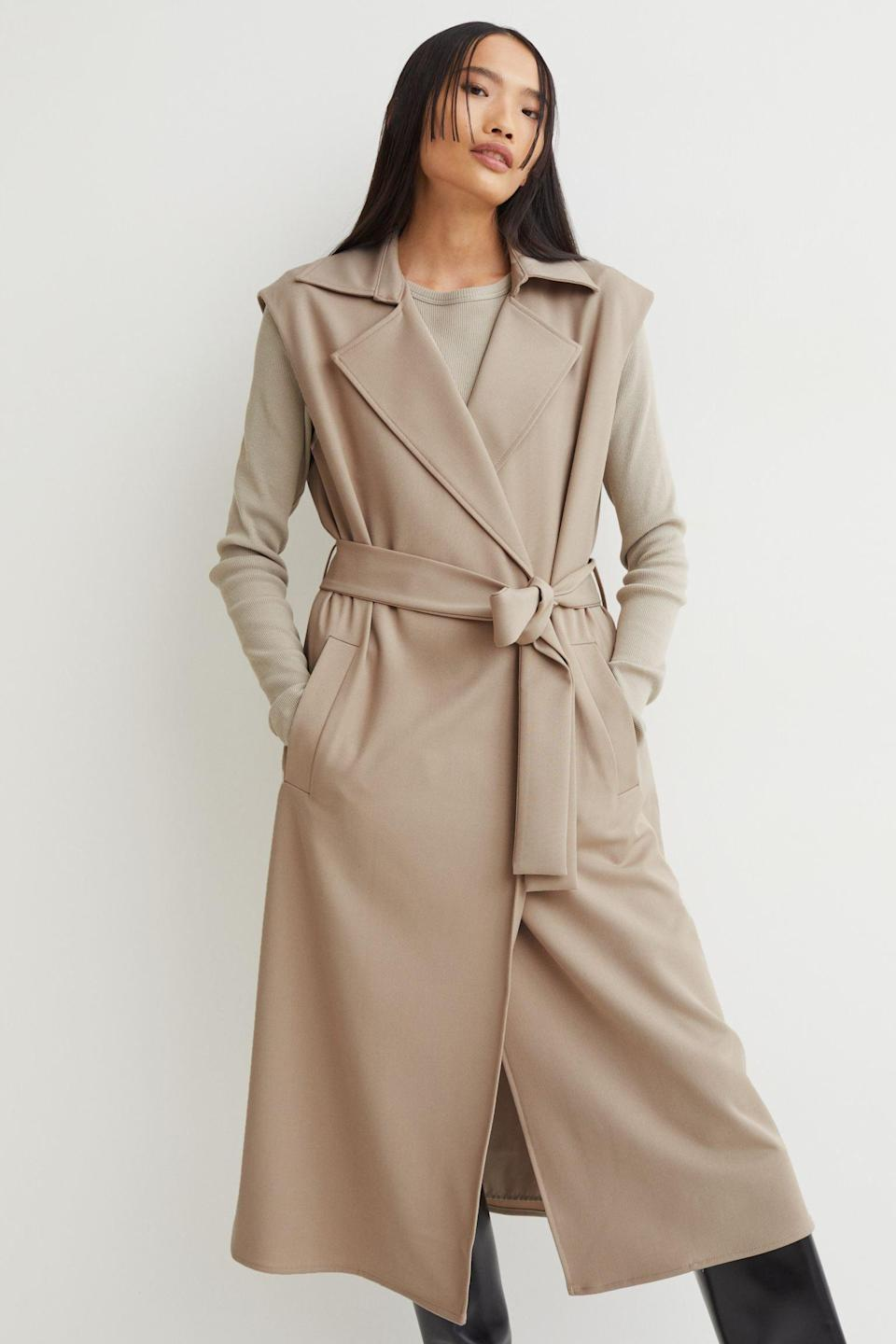 <p>This <span>Knee-length Jacket Dress</span> ($51, originally $60) will instantly elevate your coat collection with its unique sleeveless look but you can also style it over a long-sleeved tee as a dress. It's a great two-in-one piece you won't regret investing in.</p>