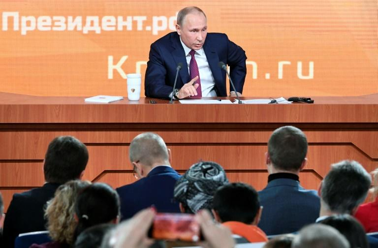 Presidential spokesman Dmitry Peskov said Putin spent all of the previous day preparing for his 13th such press conference