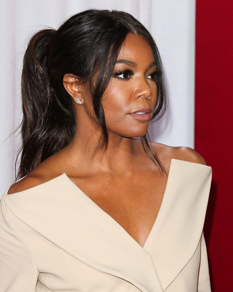 Gabrielle Union S High Ponytail And Berry Lip Combo Is Perfect