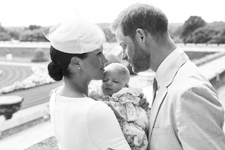Harry and Meghan shared a black-and-white photo featuring their son Archie PA/Chris Allerton