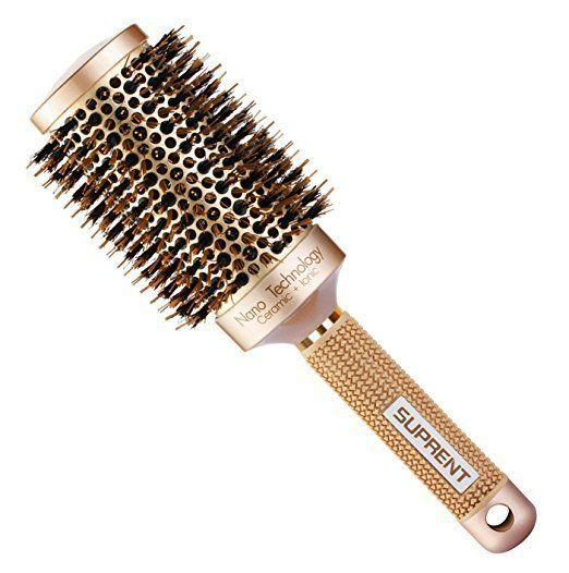 "Get one <a href=""https://www.amazon.com/SUPRENT-Thermal-Ceramic-Round-Brush/dp/B01G5FYOVO?tag=thehuffingtop-20"" target=""_blank"">here</a>."