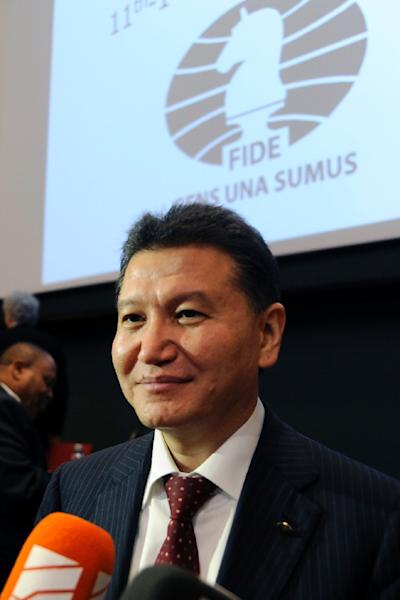 The US has imposed sanctions on Kirsan Ilyumzhinov, a wealthy Russian businessman and long-standing president of the World Chess Federation (AFP Photo/Rune Stoltz Bertinussen)
