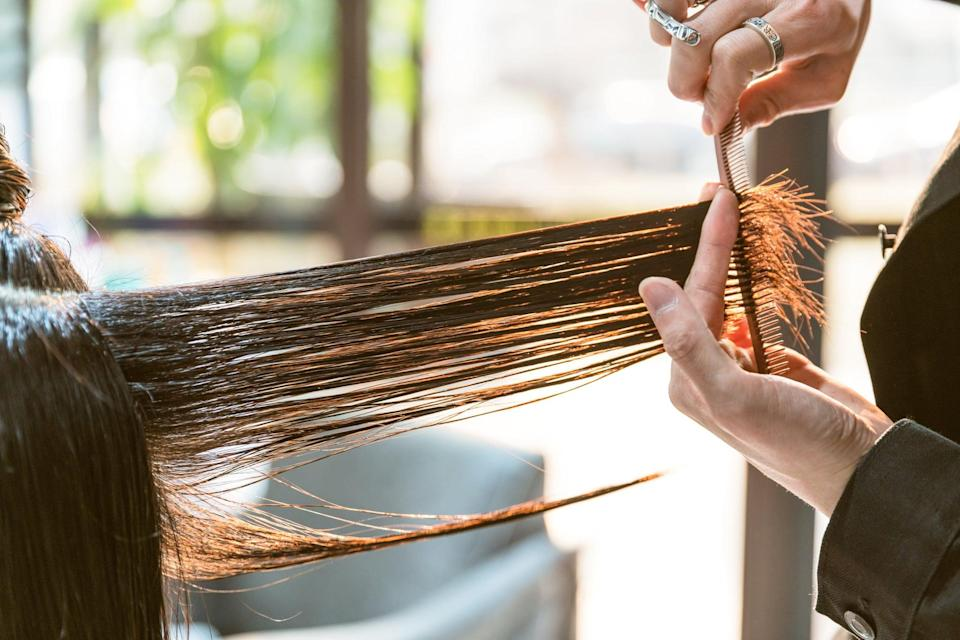 """<p>While most hair types can benefit from a dry cut in different ways, Conan cautioned one thing before you dive in: """"Your hair needs to be in the texture or shape you will wear it in most often. For example, if you get your hair dry cut when is it blown out straight but normally wear your hair curly, you won't get the full benefits, and the cut will look different when you wear it as you usually would after your salon visit.""""</p>"""