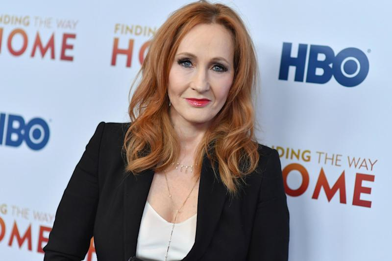 JK Rowling on 11 December 2019 in New York City: ANGELA WEISS/AFP via Getty Images