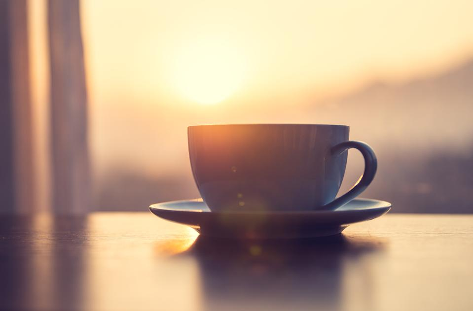 Cup of coffee on table