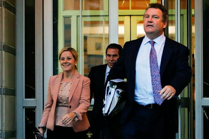 Stepien dated Bridget Kelly, one of the key figures of Bridgegate, for several months leading up to the scandal. She's pictured on the left leaving court in October 2016.