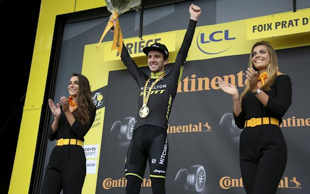 Simon Yates claimed victory after stage 15 on Sunday - Getty Images Europe