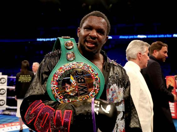 Dillian Whyte beat Oscar Rivas on Saturday night but won't get to face Deontay Wilder (PA)