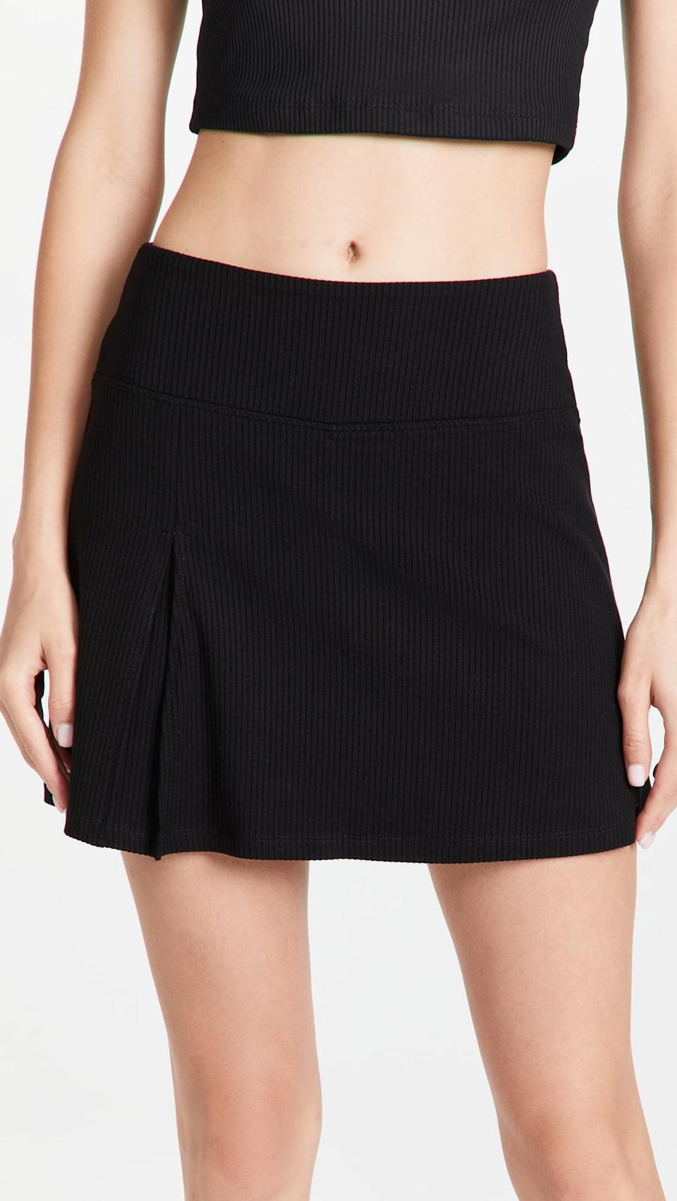 <p>We know what you're thinking, a skort seems so early '00s, but we love it for that. No doubt the <span>Year of Ours Club Skort</span> ($123) will keep you comfy, and we're into the sporty vibe.</p>