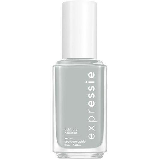 """<h3>In The Modem</h3><br>This <a href=""""https://www.refinery29.com/en-us/best-gray-nail-polish"""" rel=""""nofollow noopener"""" target=""""_blank"""" data-ylk=""""slk:light gray"""" class=""""link rapid-noclick-resp"""">light gray</a> with blue undertones has a creamy finish that feels like a sophisticated nod to <em>Zenon: Girl of the 21st Century</em>.<br><br><strong>Essie</strong> Essie Expressie Quick-Dry Nail Polish Dial It Up, $, available at <a href=""""https://go.skimresources.com/?id=30283X879131&url=https%3A%2F%2Fwww.ulta.com%2Fexpressie-quick-dry-nail-polish-dial-it-up-collection%3FproductId%3Dpimprod2021041"""" rel=""""nofollow noopener"""" target=""""_blank"""" data-ylk=""""slk:Ulta Beauty"""" class=""""link rapid-noclick-resp"""">Ulta Beauty</a>"""