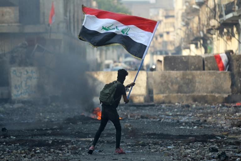 Iraqis have been staging mass anti-government protests in Baghdad and across the south since early October (AFP Photo/AHMAD AL-RUBAYE)