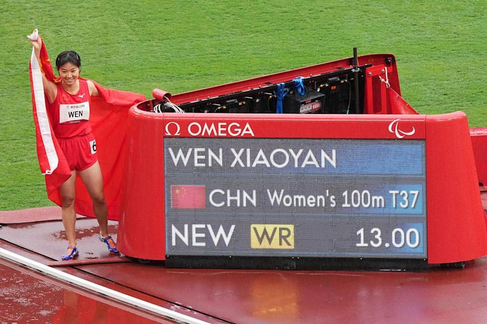 Wen Xiaoyan won three golds as part of a dominant China team.