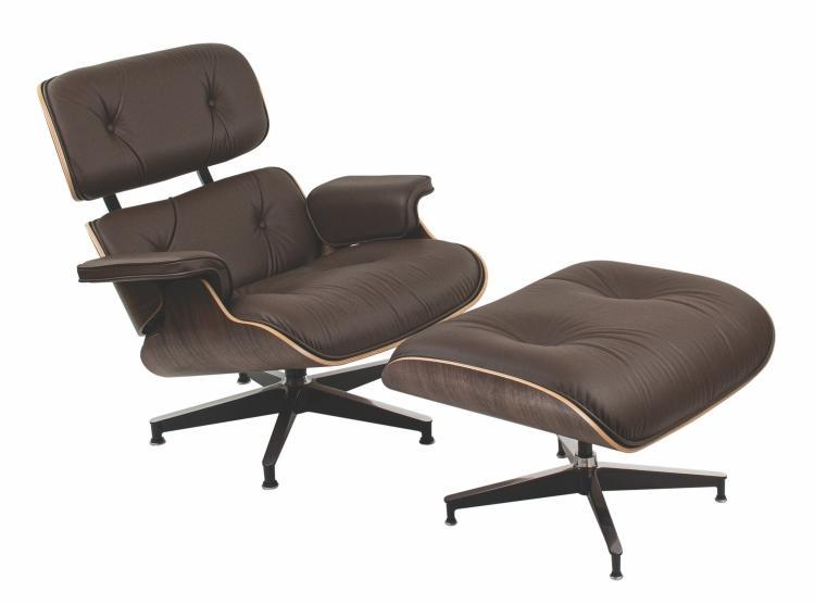 Eames Lounge Chair and Ottoman Classic, Herman Miller Collection, walnut (shell finish), leather truffle (material)