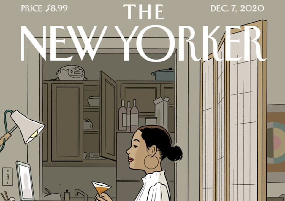 New Yorker cover goes viral for being relatable  (New Yorker/Adrian Tomine)