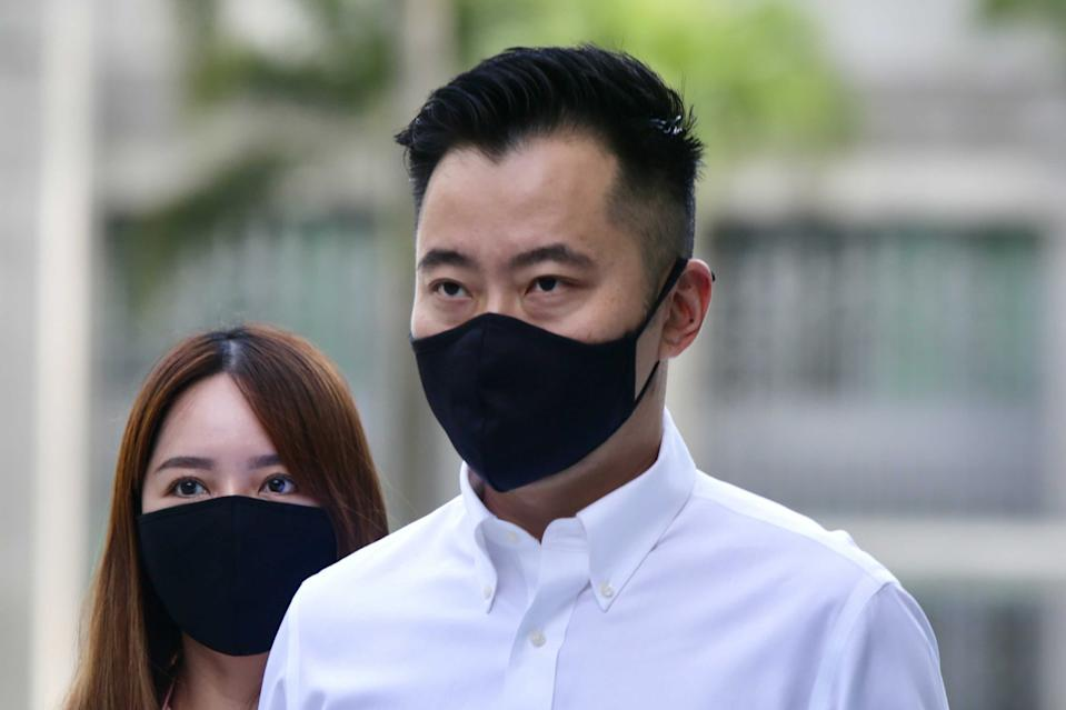 Daniel Ong arrives at the State Courts on 29 December. (PHOTO: Yahoo News Singapore/Dhany Osman)