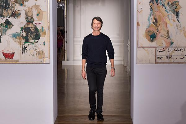 Pierpaolo Piccioli, Direttore Creativo Valentino Credit: Images courtesy of Valentino Spa. Artworks kindly loaned by Tiroche DeLeon Collection & Art Vantage PCC Limited for display at the Valentino Haute Couture Spring/Summer 2017 Fashion Show