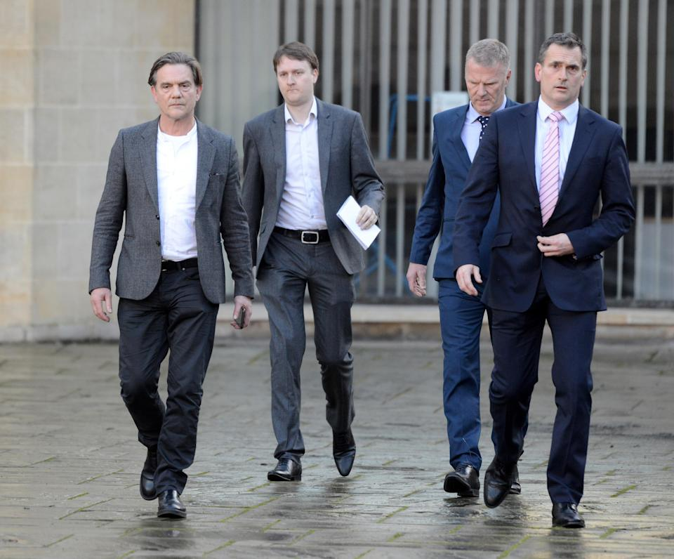 John Michie gives a statement at Winchester Crown Court on February 28. (Finnbarr Webster/Getty Images)