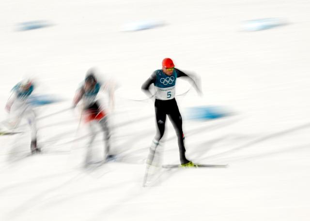 Nordic Combined Events – Pyeongchang 2018 Winter Olympics – Men's Individual 10km Final – Alpensia Cross-Country Skiing Centre - Pyeongchang, South Korea – February 14, 2018 - Eric Frenzel of Germany competes. REUTERS/Kai Pfaffenbach TPX IMAGES OF THE DAY