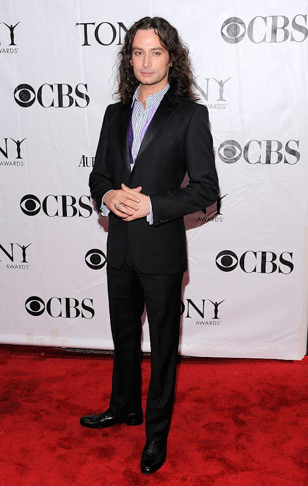 "Constantine Maroulis, who earned a 2009 Tony Award nomination for his performance in ""Rock of Ages,"" sported a suit, striped shirt, and his signature long locks. The ""Idol"" alum made an additional fashion statement by letting his lavender bow tie hang around his neck undone. Jemal Countess/<a href=""http://www.wireimage.com"" target=""new"">WireImage.com</a> - June 13, 2010"