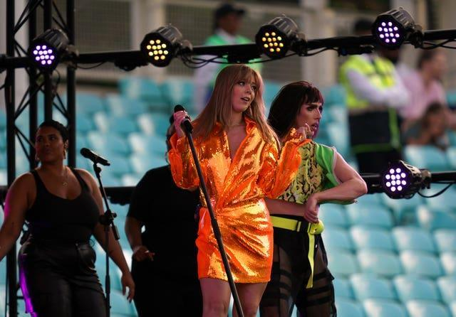 Becky Hill entertained the crowd