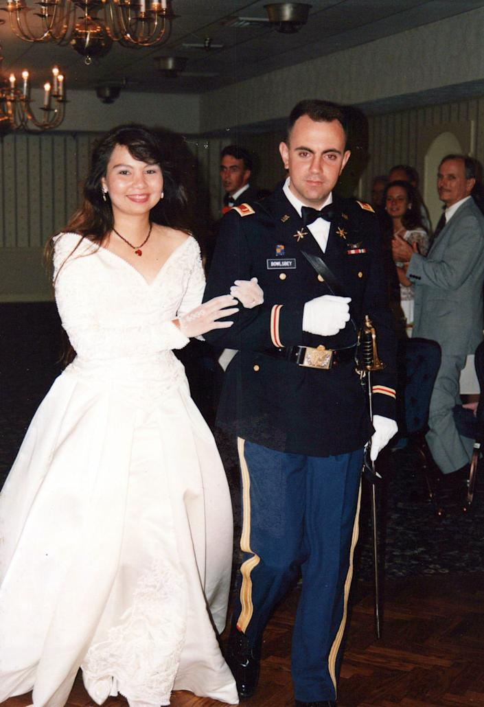 Tammy Duckworth married Bryan Bowlsbey, who also served in the Army National Guard.