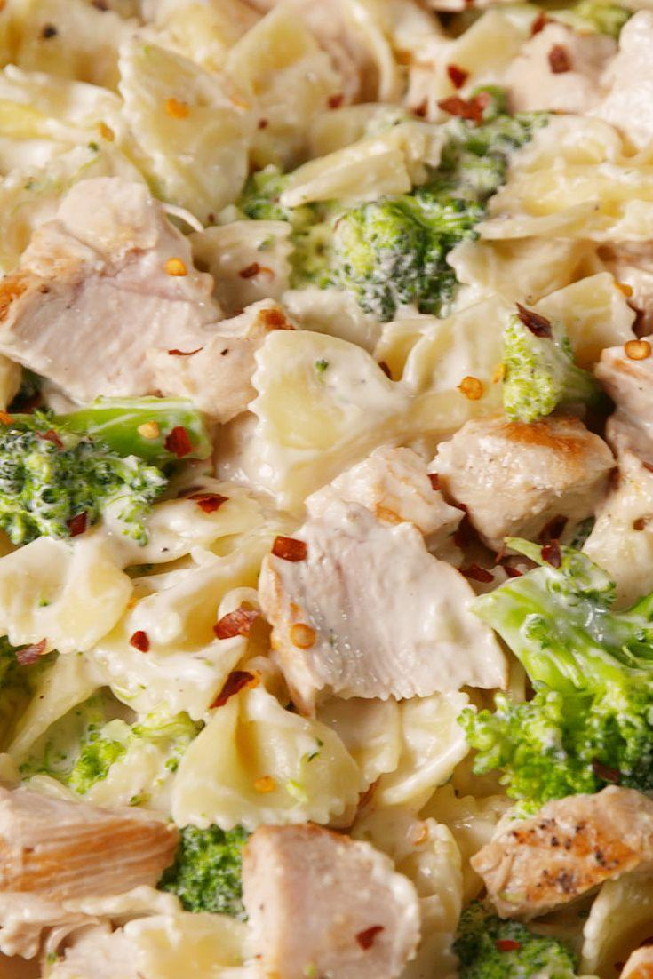 "<p>The cream cheese alfredo is delicious.</p><p>Get the recipe from <a href=""https://www.delish.com/cooking/recipe-ideas/recipes/a51571/creamy-chicken-broccoli-bowties-recipe/"" rel=""nofollow noopener"" target=""_blank"" data-ylk=""slk:Delish"" class=""link rapid-noclick-resp"">Delish</a>.<br></p>"