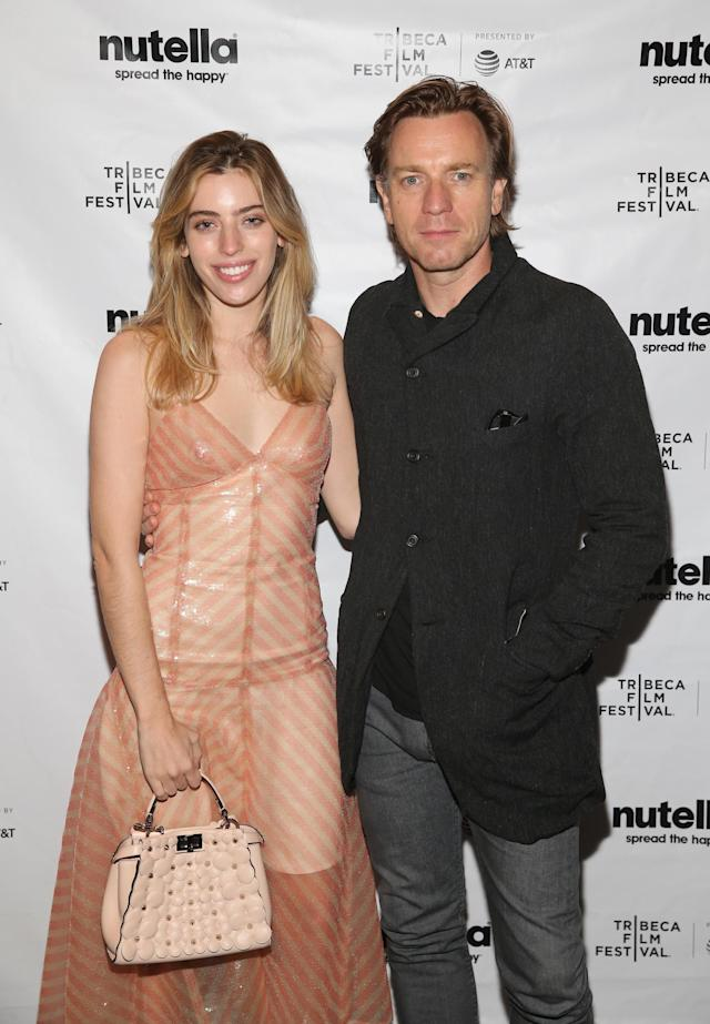 Clara McGregor with her dad, Ewan McGregor, at the after-party for his film <em>Zoe</em> during the 2018 Tribeca Film Festival on April 22, 2018. Winstead also had a film at the festival, but Clara did not attend that party. (Photo: Rob Kim/Getty Images for 2018 Tribeca Film Festival)