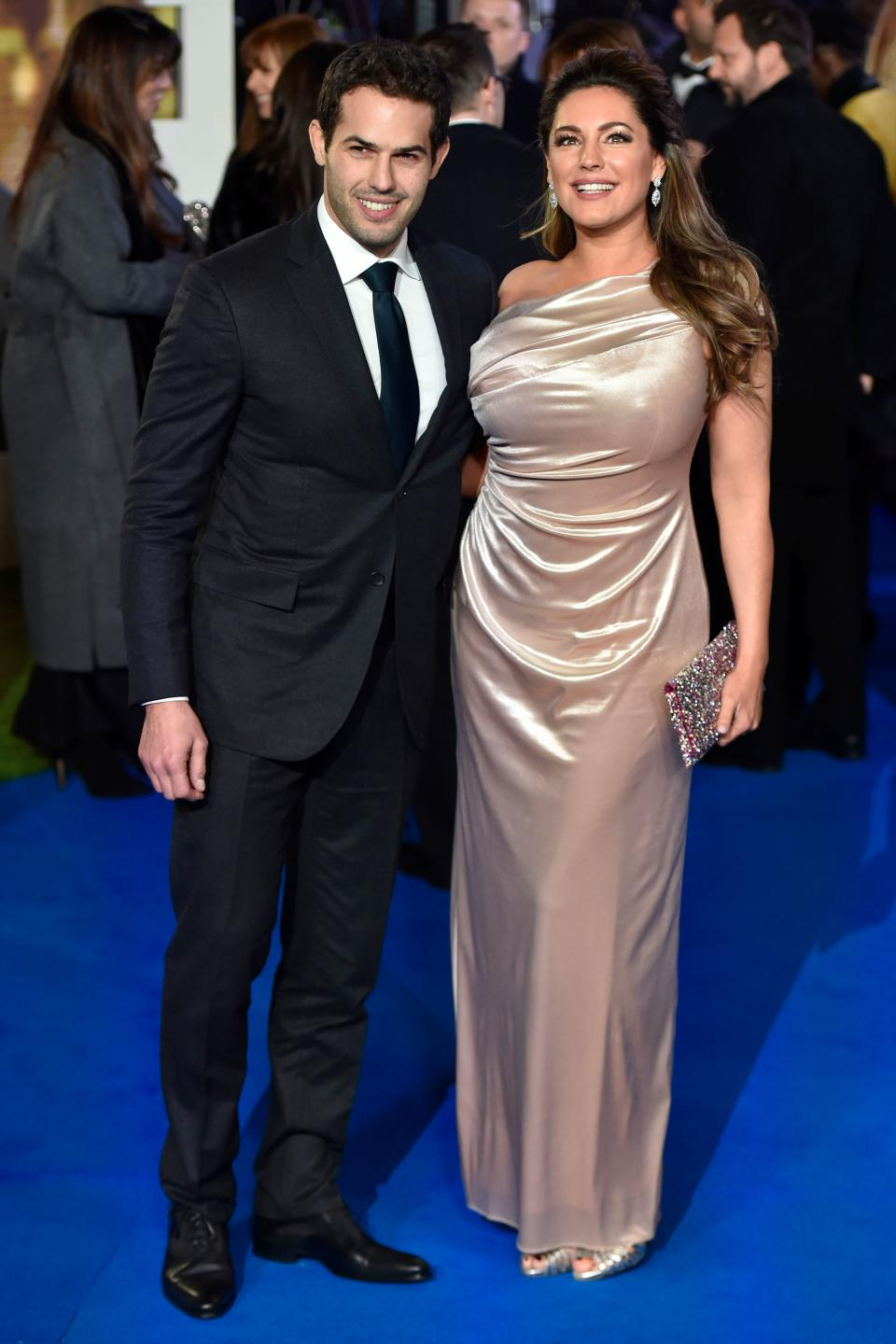 Kelly Brook is in a relationship with Jeremy Parisi. (Photo credit should read NIKLAS HALLEN/AFP via Getty Images)