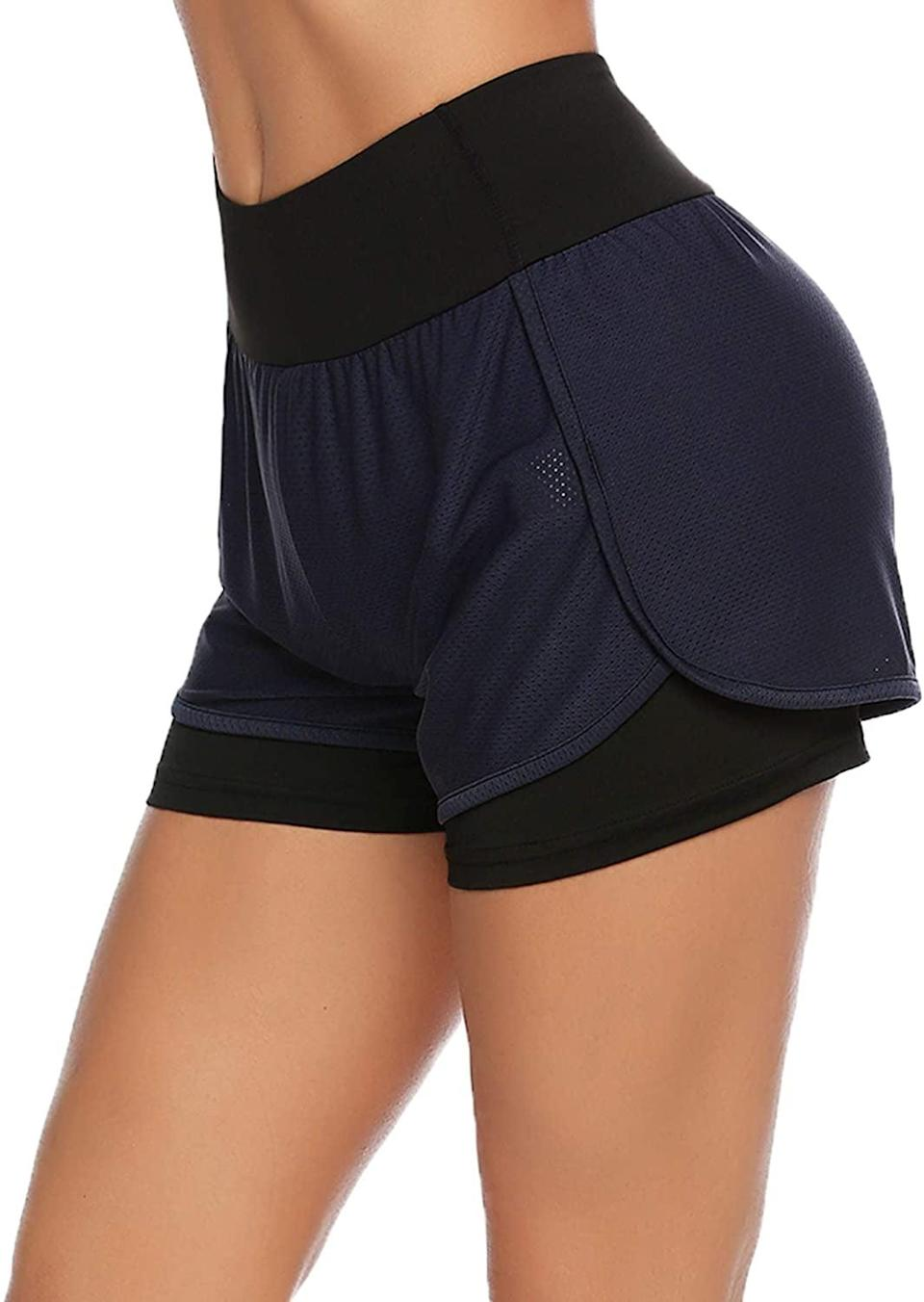 <p>These <span>COOrun Double Layer Running Shorts</span> ($22) feature a small pocket on the back for keys or an ID.</p>