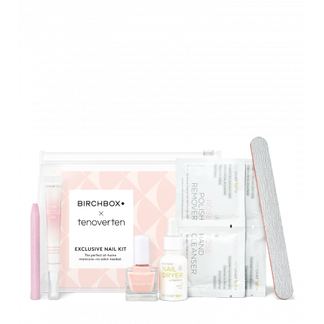 "<h3>Birchbox x tenoverten Exclusive At Home Manicure Kit</h3> <br>This just-launched kit includes $73 worth of full-size products for under $50. In addition to basics like a file and cuticle oil, you'll also get pro-grade items like a stone cuticle pusher and non-toxic setting drops to speed up dry time.<br><br><strong>Birchbox</strong> x tenoverten Exclusive At Home Manicure Kit, $, available at <a href=""https://go.skimresources.com/?id=30283X879131&url=https%3A%2F%2Fwww.birchbox.com%2Fproduct%2F44834%2Fbb-samplers-tenoverten-kit"" rel=""nofollow noopener"" target=""_blank"" data-ylk=""slk:Birchbox"" class=""link rapid-noclick-resp"">Birchbox</a><br>"