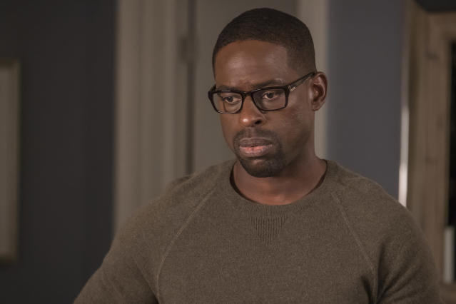 <p>Sterling K. Brown as Randall in NBC's <i>This Is Us</i>.<br>(Photo by: Ron Batzdorff/NBC) </p>