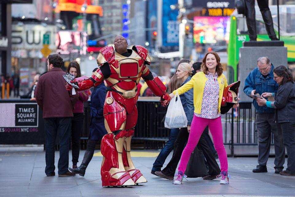 """<h1 class=""""title"""">UNBREAKABLE KIMMY SCHMIDT, (from left): Tituss Burgess, Ellie Kemper, (Season 1, aired March 6,</h1><cite class=""""credit"""">Photo: Courtesy Everett Collection</cite>"""