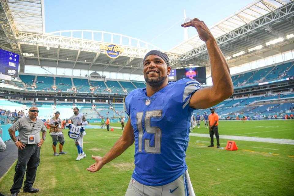 Golden Tate has played in the NFL for nine seasons, the past four with Detroit. (Getty Images)