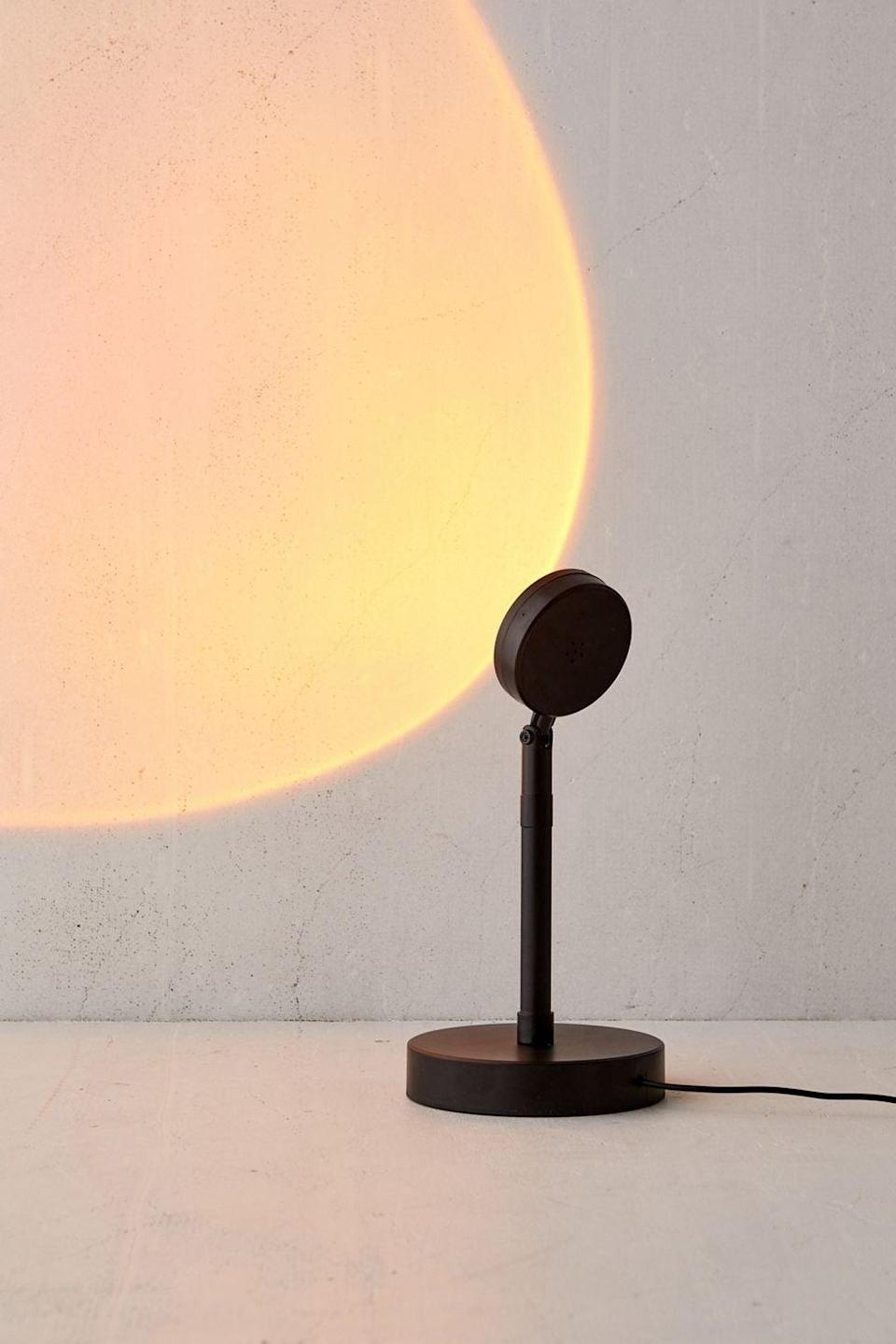 <p>Set the ambiance with this <span>Brilliant Ideas Sunset Lamp</span> ($35). You've probably seen it all over twitter, yet this lamp will give them that golden hour glow anytime of the day.</p>