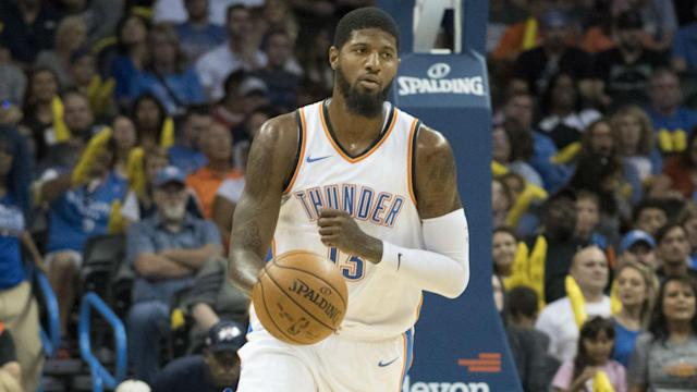 "<a class=""link rapid-noclick-resp"" href=""/nba/players/4725/"" data-ylk=""slk:Paul George"">Paul George</a> opted out of his&nbsp;$20.7 million deal with the Thunder on Thursday. (AP)"