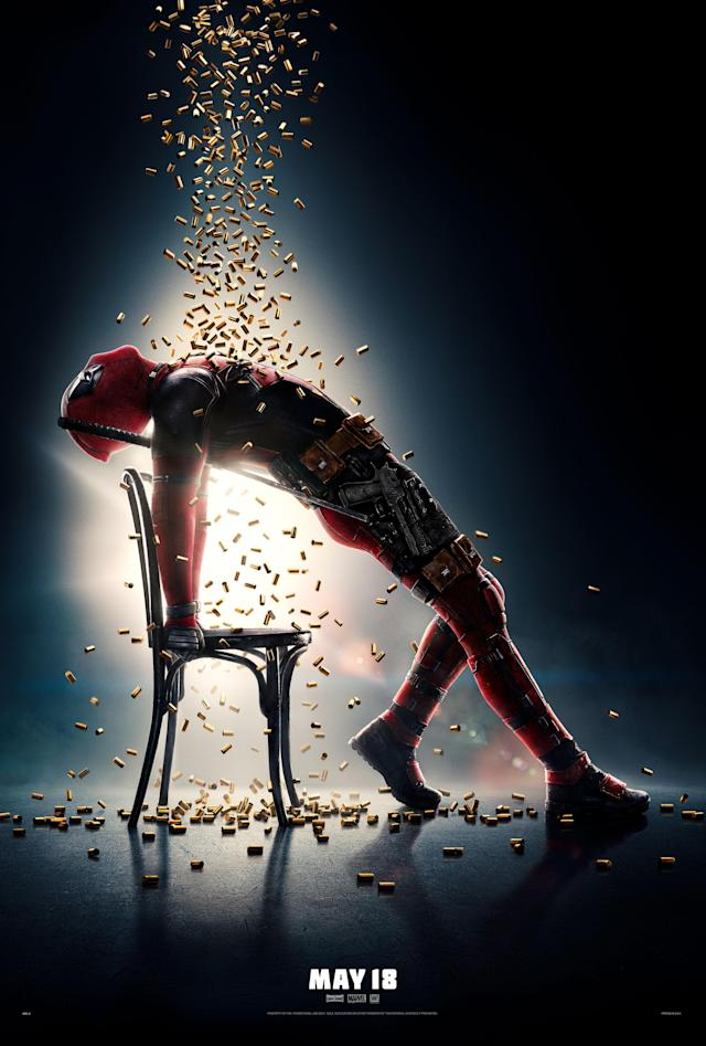 Deadpool channels Jennifer Beals in a <em>Flashdance</em> inspired <em>Deadpool 2</em> poster. (Photo: 20th Century Fox Film Corp/Courtesy Everett Collection)
