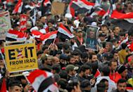 The rally comes after a US drone strike killed Iranian general Qasem Soleimani and a top Iraqi commander in Baghdad on January 3