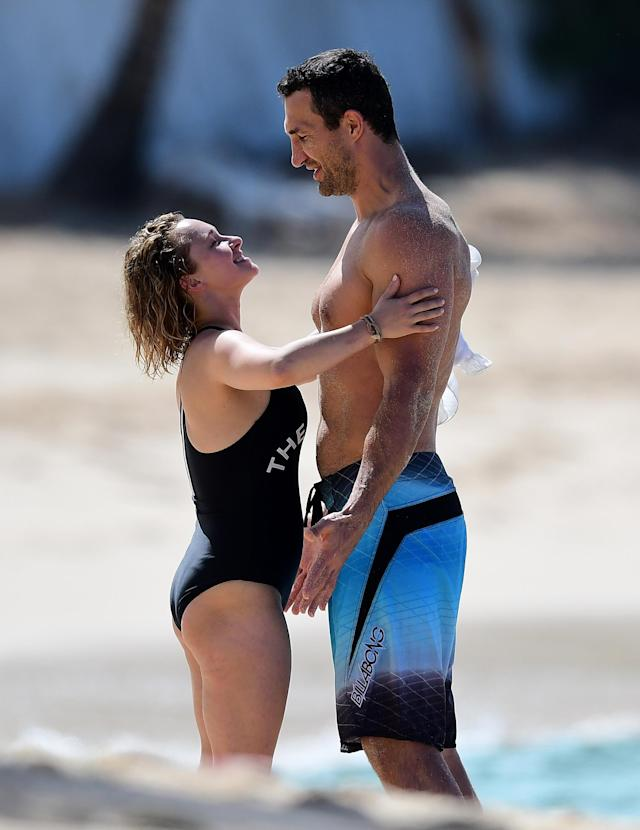 Hayden Panettiere and Wladimir Klitschko on a romantic holiday in Barbados. (Photo: Mega Agency)