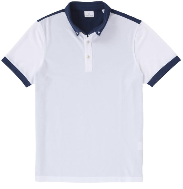 "<p>This shirt combines the look of a classic old-school cotton polo with a sleek cut and breathable, quick-drying cotton-poly-spandex fabric that will keep you cool even in the dog days of summer. <a href=""https://www.bradley-allan.com/collections/polos/products/color-block-polo-white-cadet"" rel=""nofollow noopener"" target=""_blank"" data-ylk=""slk:$89"" class=""link rapid-noclick-resp"">$89</a> (Courtesy Bradley Allan) </p>"