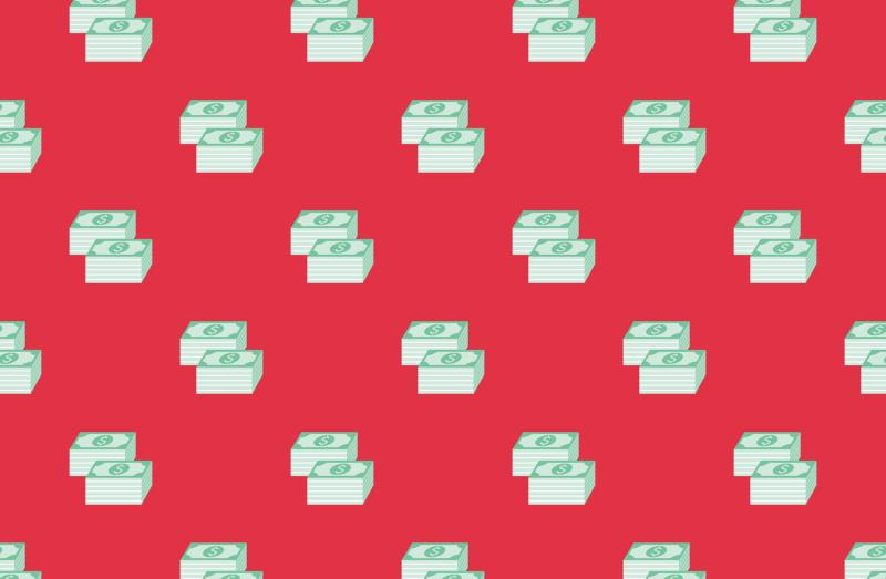 Money E Commerce Seamless Pattern