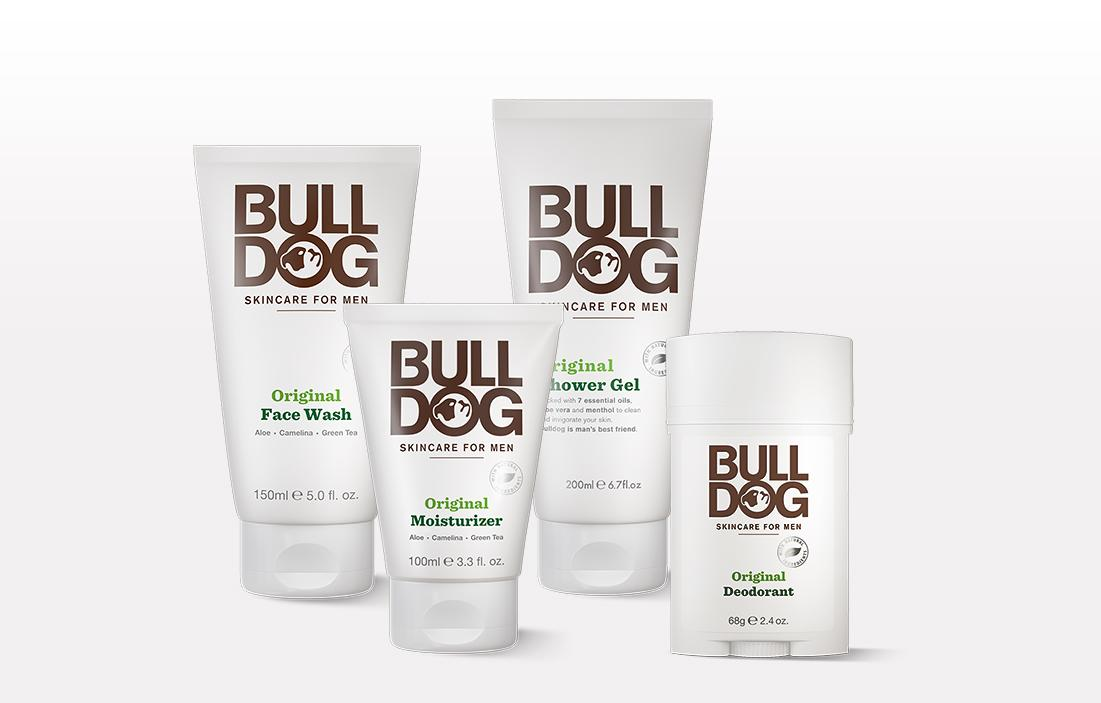 "<p>Bulldog Skincare is now available in Canada and this kit includes the necessary products for grooming and personal care. The kit includes face wash (5 fl. oz.), shower gel (6.7 fl oz.), moisturizer (3.3 fl. oz.) and deodorant (2.4 oz.). Each product is a blend of natural ingredients fusing camelina sativa seed oil, green tea extract and aloe vera and this selection is designed for men with normal skin.<br /><a rel=""nofollow"" href=""https://www.bulldogskincare.com/us/en/kits/original-full-body-kit/p/original-full-body-kit""><strong>SHOP IT: Bulldog Skincare, $36</strong></a> </p>"