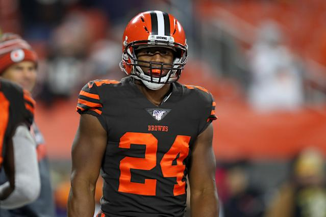 Unleash Chubb on the woeful Dolphins in Week 12. (Photo by Frank Jansky/Icon Sportswire via Getty Images)